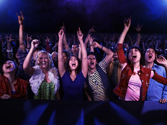 Fans at rock show